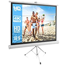 Portable Projector Screen Tripod Stand - Mobile Projection Screen , Lightweight Carry & Durable Easy Pull Assemble System for Schools Meeting Conference Indoor Outdoor Use, 50 Inch By Pyle (PRJTP52)