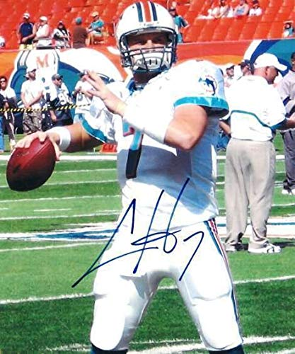 Autographed Signed Chad Henne Miami Dolphins 8x10 Photo - Certified Authentic