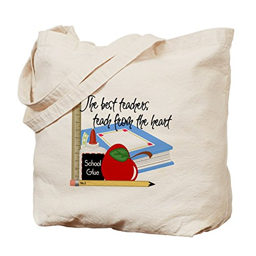CafePress Teach From Heart Tote Bag - Standard Multi-color by CafePress