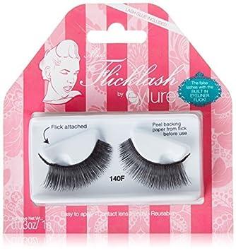 cebb0f89ff1 Amazon.com : Eylure Flicklash Exaggerate Eyelashes 140 by Eylure : Beauty