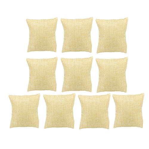 BOCAR Watch Bracelet Bangle Small Linen Pillow Jewelry Display (10pcs, ZT-linen)