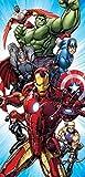 Disney Marvel Avengers Assemble Fiber Reactive Cotton Beach Towel 30x60 Inches