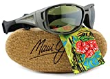 Maui Jim HT410-11B Waterman Sunglasses Titanium w/ Maui HT HT410 11B 63.5mm Authentic