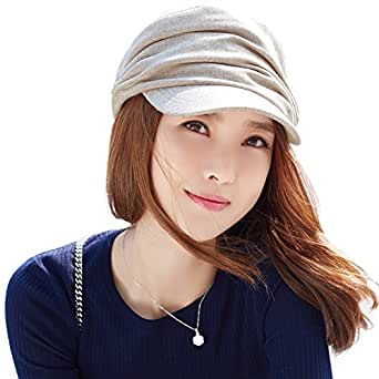 Siggi newsboy Cap For Women Wool Winter Hat Ladies Visor Beret Cloche Hats Cold Weather Fleece Lined Beige