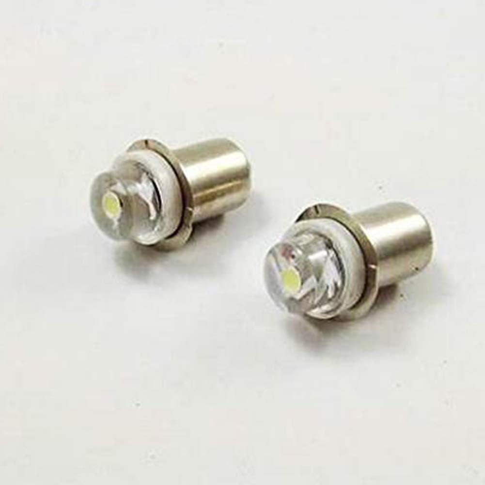 Weiss DC 3V//4.5V//6V//12V//18V P13.5S 3030 LED Fackellicht Taschenlampe Lampe Birne