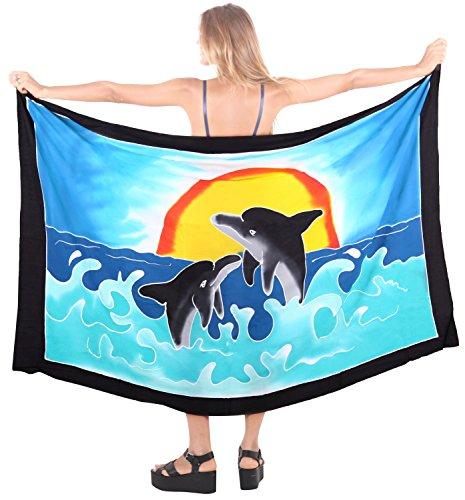 para mujer del traje de baño ropa de playa envoltura de baño falda pareo traje de encubrir pareo desgaste piscina traje de baño ropa de playa azul turquesa