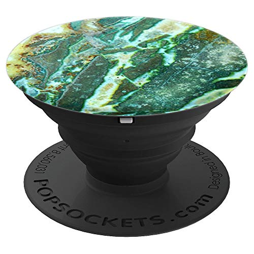 (Turquoise Blue Green Agate Stone Rock - PopSockets Grip and Stand for Phones and Tablets)