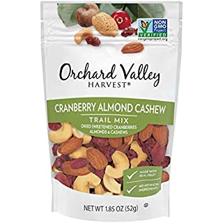 Orchard Valley Harvest Cranberry Almond Cashew Trail Mix, 1.85 oz (Pack of 14), Non-GMO, No Artificial Ingredients (ASINPPOSPRME37392)