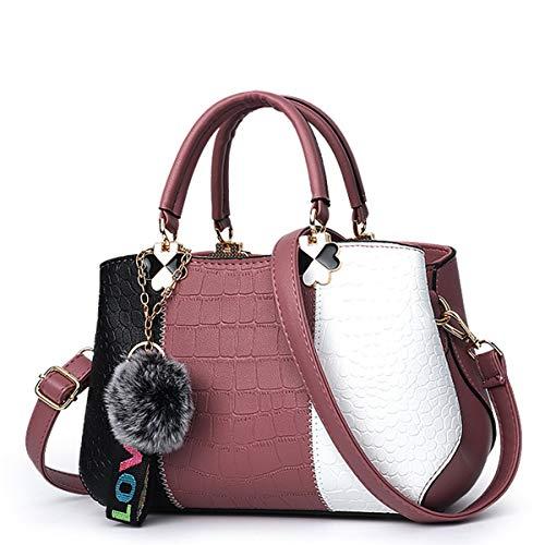 handvat roze Schouder schoudertas Shopping Top Work Shopper Exull Elegant Dames Tote lederen Pu Handtas tas Student 1357 8q4qxwRaF7