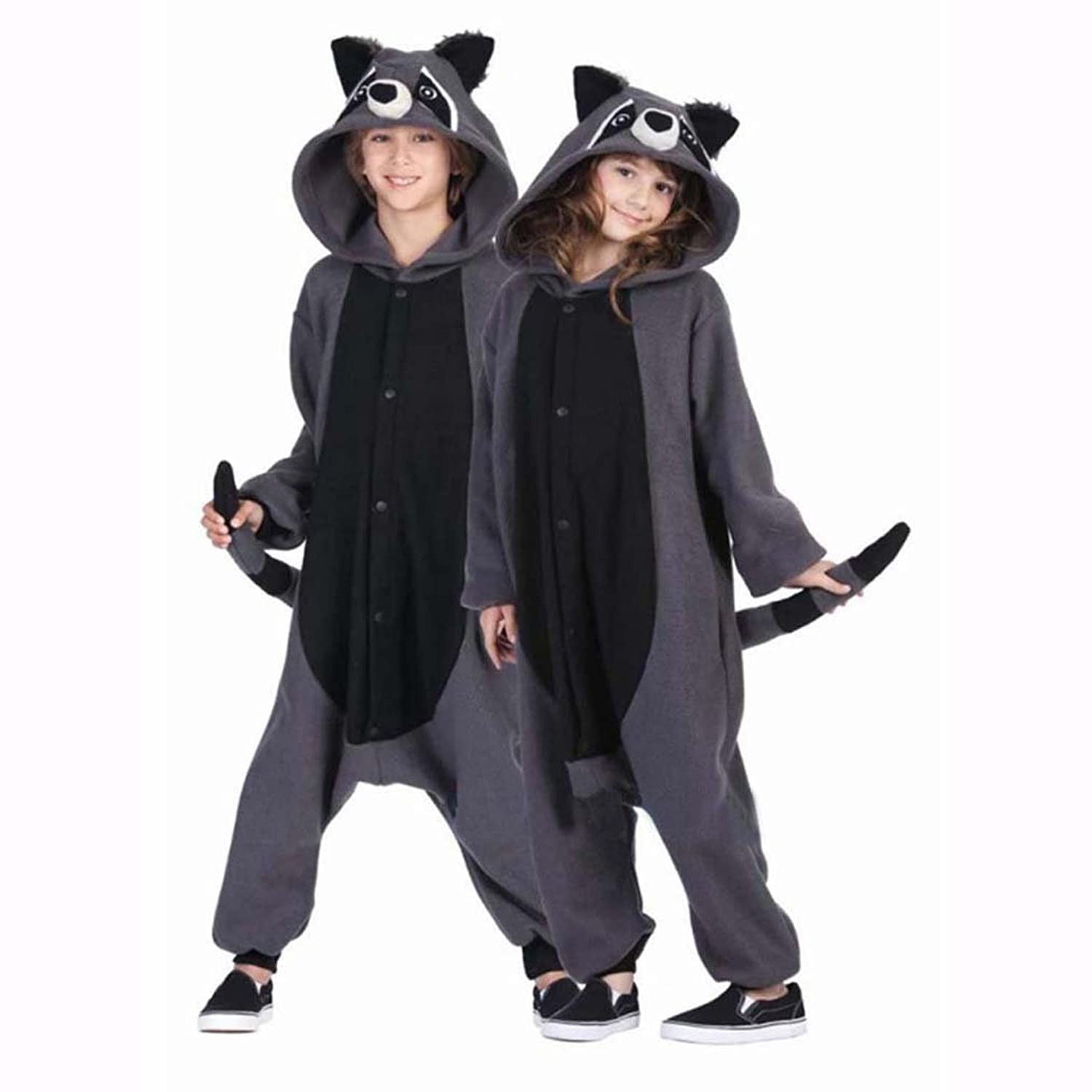 Gray Raccoon Kigurumi Pajamas Onesies Clothing Romper Nightwear at Amazon Mens Clothing store: