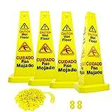 "Reliable1st 4 Packs 26"" Caution Wet Floor Cones"