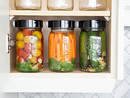 Easy Fermenter Wide Mouth Lid Kit: Simplified Fermenting In Jars Not Crock Pots! Make Sauerkraut, Kimchi, Pickles Or Any Fermented Probiotic Foods. 3 Lids, Extractor Pump & Recipe eBook - Mold Free by Nourished Essentials (Image #5)