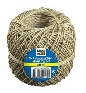 Nips 140783001 - Bobina de hilo de cáñamo para empaque, 80 m, color beige