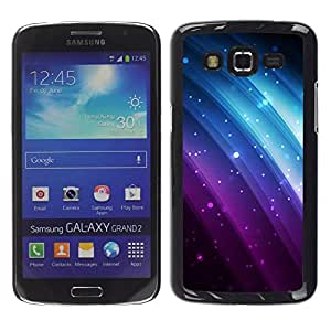"Pulsar Snap-on Series Teléfono Carcasa Funda Case Caso para Samsung Galaxy Grand 2 II , Glitter Purple Blue Rainbow Negro Sparkle"""