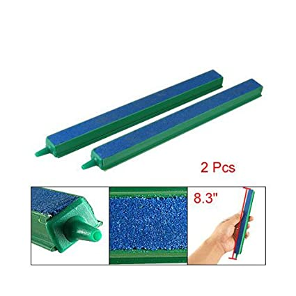 "Sonline 2 x Barra de Aireacion Burbuja de Aire para Acuario 8"" Verde Azul"
