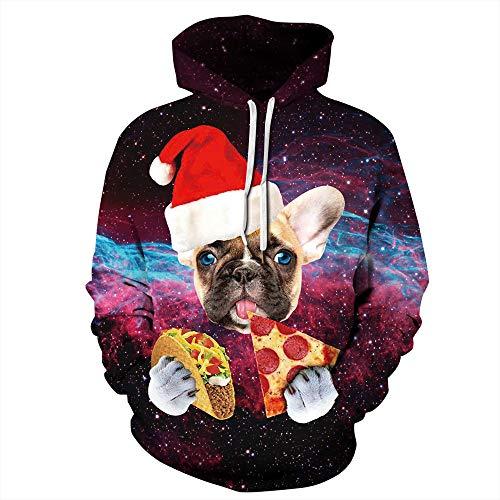 Santa Hooded Esplodendo Baseball Serie Tide xxxl Suit Spfazj Abbigliamento xxl Costume 3d Indossare Natale Digital D Vestiti Print Sportiva Giacca Coppie qZdznCwn