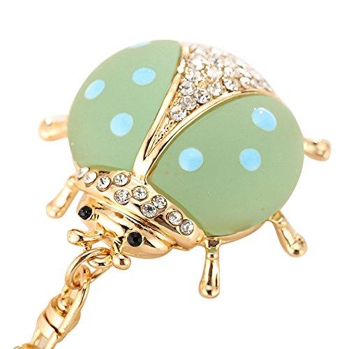 Danhjin Seven-Star Ladybug Shape Animal Series Cute Keychain Creative Girl Bag Hanging Ornaments ()