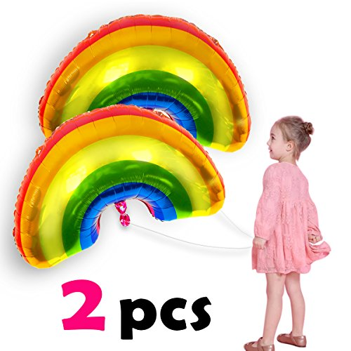 Pawliss Cute Rainbow Foil Mylar Balloon Party Decoration 35