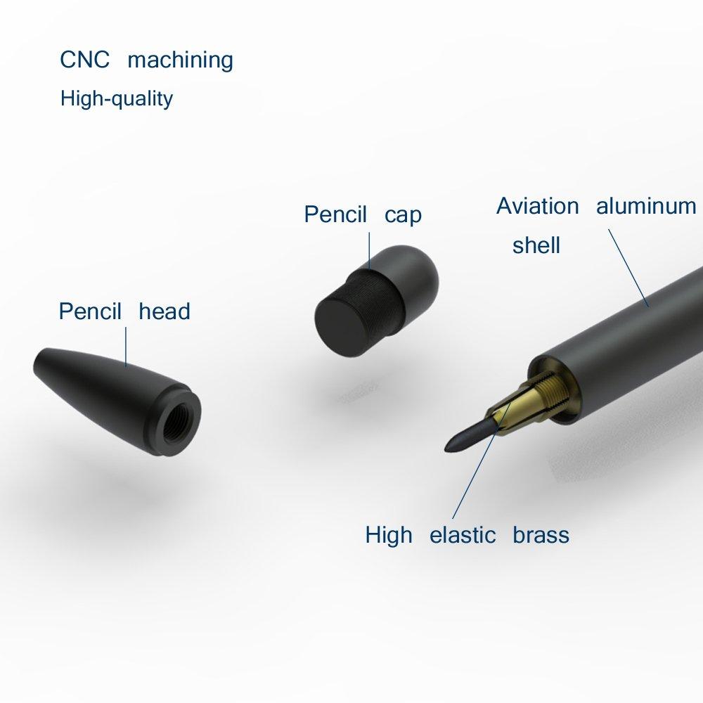 2.0mm magnetic control Pencil 2B Gold Multi-functional Pencil Aviation aluminum Mechanical Pencil CNC machined Pencil