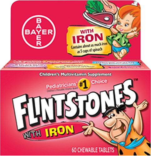 Flintstones Chewable Tablets With Iron 60 Tablets ( Pack of (Flintstones With Iron)