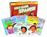 Kids Learn Spanish: 4 Book/2 Music CD Handlebox Set