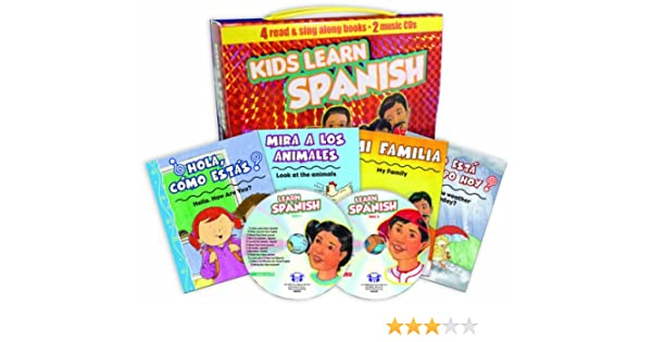 Twin Sisters Productions - Kids Learn Spanish: 4 Book/2 Music CD Handlebox Set - Amazon.com Music