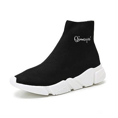 584bce80efe88 Exing Chaussures pour Femmes 2018 Automne Nouvelles Chaussures Chaussettes  Élastiques, Décontracté Fond Épais Haut Aide