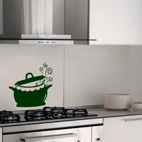 Your Design - Adesivo da parete - Pentola da cucina, verde ...