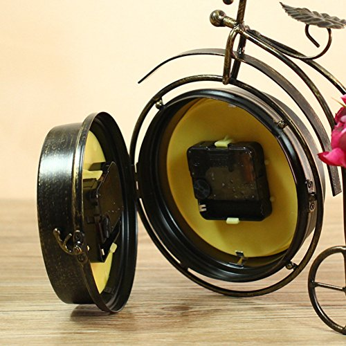 NEOTEND Handmade Vintage Bicycle Clock Bike Mute Two Sided Table Clock by NEOTEND (Image #5)