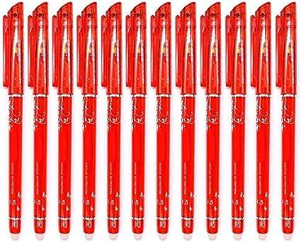 scrittura scorrevole cancelleria per la scuola RHardware 12 penne cancellabili color rosso con punta a pennino da 0,5 mm
