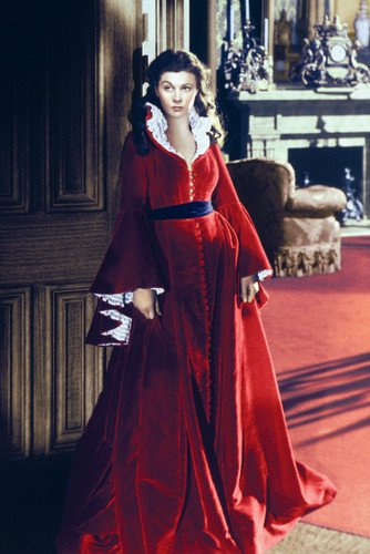 Vivien Leigh In Stunning Red Velvet Dress Gone With The Wind 24X36 Poster