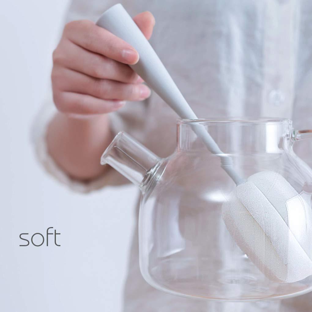 BoburyL Langer Griff Schwamm-Flaschen-Schalen-B/ürsten-W/äscher-Reinigungs-K/üche Baby-Dish Washing Werkzeuge