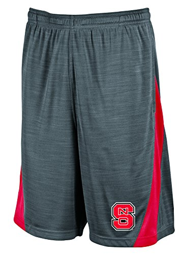 NCAA North Carolina State Wolfpack Men's Boosted Stripe Color Blocked Training Shorts, X-Large, Gray