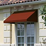 Awntech 3-Feet Dallas Retro Window/Entry Awning, 31 by 24-Inch, Burgundy/Forest Green/Tan
