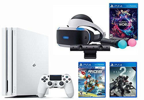 PlayStation VR Launch Bundle 3 Items:VR Launch Bundle,PlayStation 4 Pro 1TB,VR Game Disc RIGS Mechanized Combat League by Sony VR