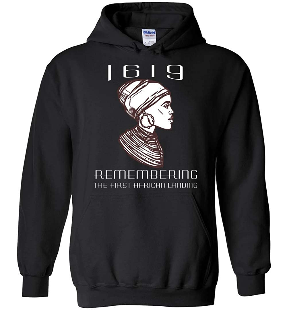 Gildan Heavy Blend Hoodie Remembering The First African Landing Atledpro Project 1619