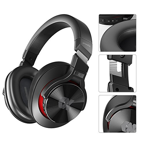 Proxelle Wireless Headphones Over Ear Active Noise Cancelling Portable Bass HiFi Stereo Wired and Wireless Headsets with Airplane Adapter for Travel Work iPhone Android PC Cell Phones TV Serenity by Proxelle (Image #6)