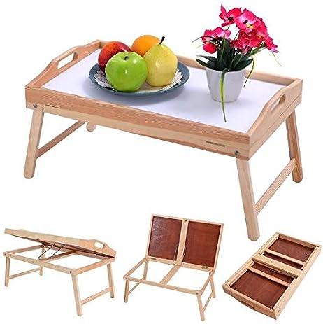 Bon Produit Royal Wood Bed Tray Breakfast Table Folding Legs Laptop Notebook  Desk Food Serving Hospital Foldable