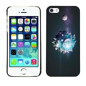 GIFT CHOICE / Teléfono Estuche protector Duro Cáscara Funda Cubierta Caso / Hard Case for iPhone 5 / 5S // Cool Abstract Planet System Universe //