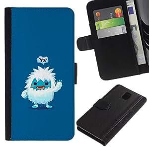// PHONE CASE GIFT // Moda Estuche Funda de Cuero Billetera Tarjeta de crédito dinero bolsa Cubierta de proteccion Caso Samsung Galaxy Note 3 III / Cute Jeti /
