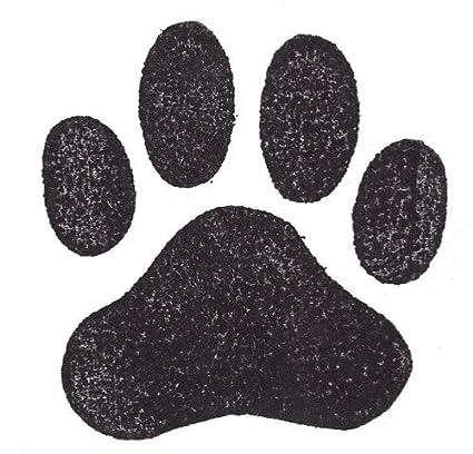 amazon com dog rubber stamp paw print jumbo 1002f size 2 3 4