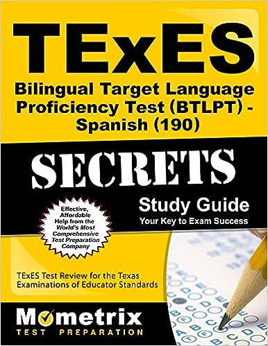 TExES Bilingual Target Language Proficiency Test BTLPT