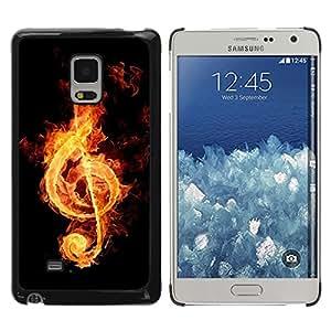 Paccase / SLIM PC / Aliminium Casa Carcasa Funda Case Cover - Fire music notation - Samsung Galaxy Mega 5.8 9150 9152