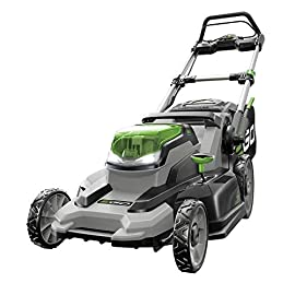 EGO 20-Inch 56-Volt Lithium-Ion Cordless Lawn Mower - Battery and Charger Not Included 9 Compatible with all EGO power+ arc lithium batteries 20 in. cut capacity Weather-resistant construction