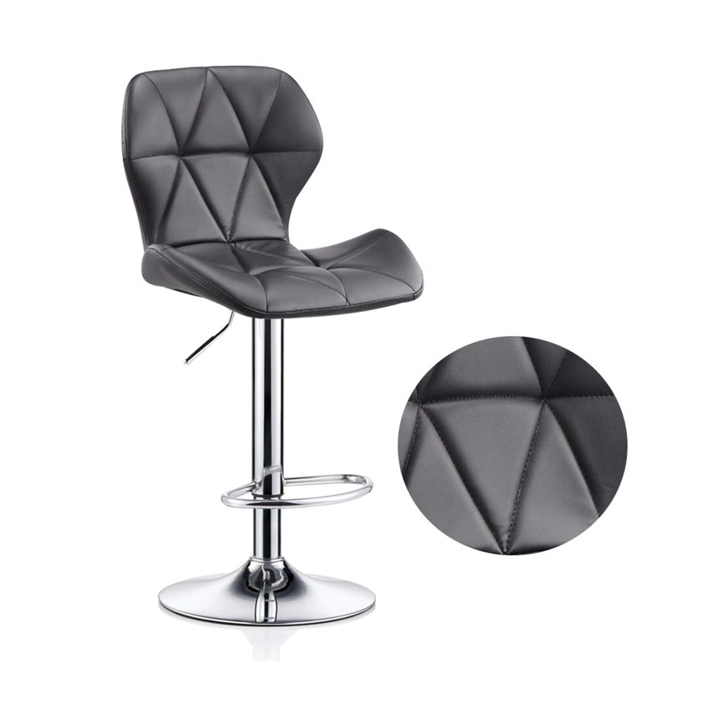 F Large Beauty Stool Bar Chair High Foot Leisure Swivel Seat Can Be Lifted Front Desk Reception Non-Slip Metal Nail Makeup Stool (color   I, Size   S)