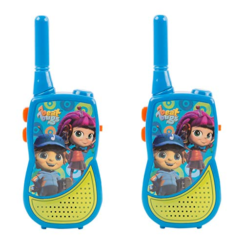 Beat Bugs Night Walkie Talkies, 1000 Feet Range, for Indoor and Outdoor use, Includes Belt Clip, by -