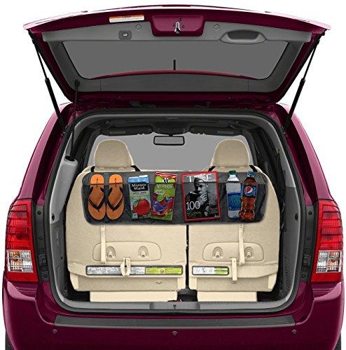 BackSeat/Trunk Organizer By Lebogner - 5 Pocket Auto Interior, Perfect Car Organizer, Trunk Organizer, Backseat Organizer, Multipurpose Cargo Accessories Organizer, Back Seat Storage Organizer Best Selling lebogner