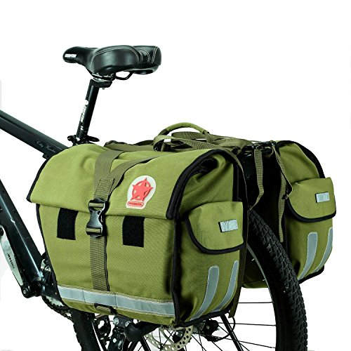 Abonnylv Waterproof Multi Function Bicycle Rear Seat Bag Bike Pannier Cycling Saddle Bag Bike Travel Large Bag