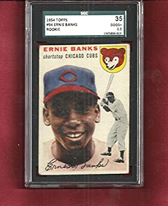 Amazoncom 1954 Topps Ernie Banks 94 Rookie Chicago Cubs