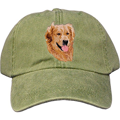 Cherrybrook Dog Breed Embroidered Adams Cotton Twill Caps - Spruce - Golden Retriever